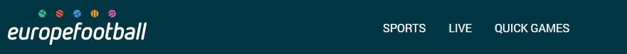 Efubet - меню сайта
