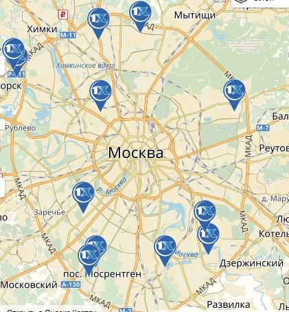 конторы москвы букмекерские на карте
