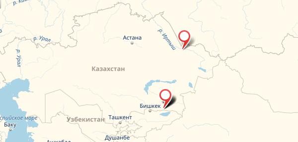 1xbet в Казахстане на карте