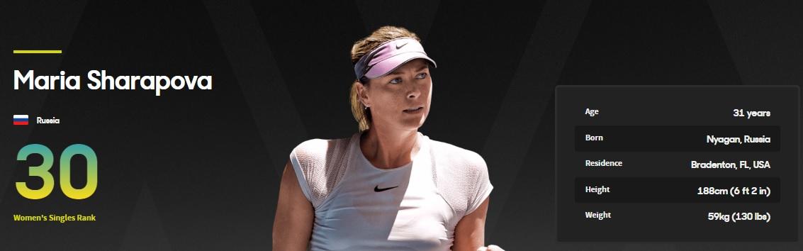 Шарапова Мария ATP-30
